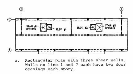 Typical floor plans for the Soviet Series 111 (Building 111-07) precast concrete frame building (Wyllie, 1988).