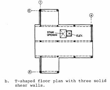 Typical floor plans for the Soviet Series 111 (Building 111-??) precast concrete frame building (Wyllie, 1988).