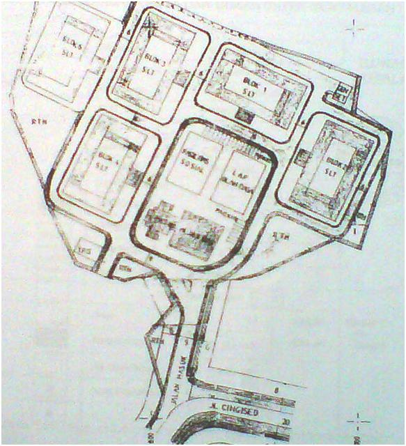 Layout of the apartment block (PT Bina Raka Metindo)