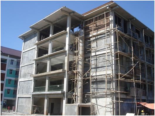 Side view of one of the apartment block (PT Bina Raka Metindo)