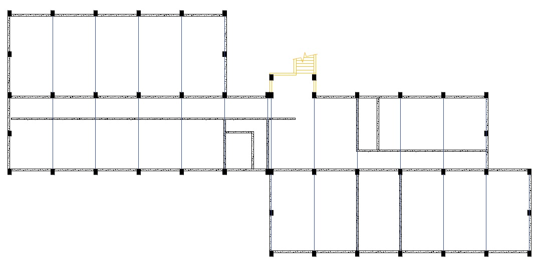 Second story floor plan building (Adapted from Elnashai et al, 2008).