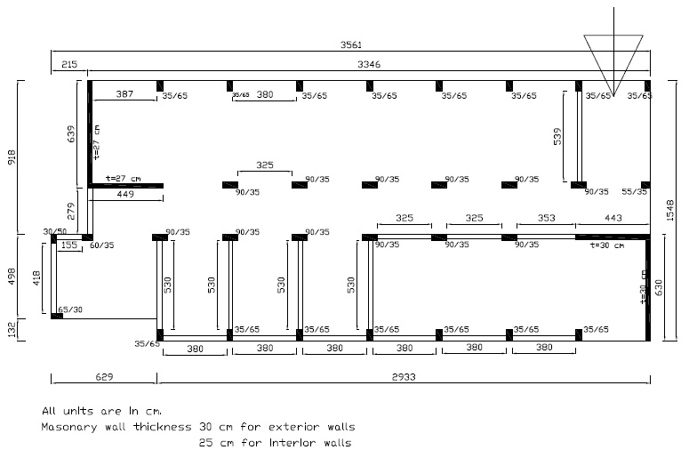 Floor plan of school building C-14-08 (Retrieved from AnatolianQuake.org).