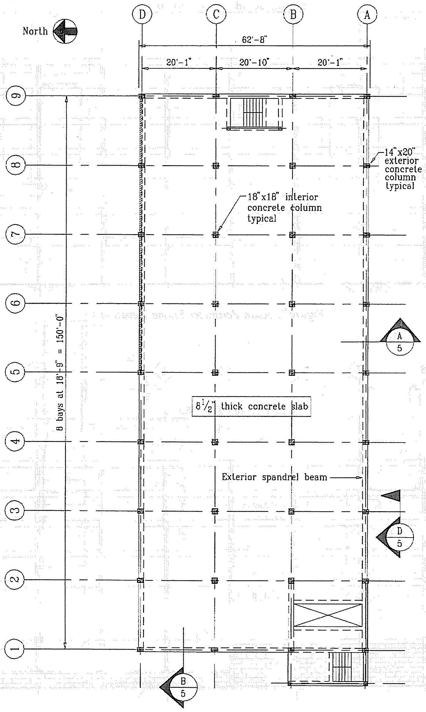 Typical floor framing plan. (SSC, 1994)