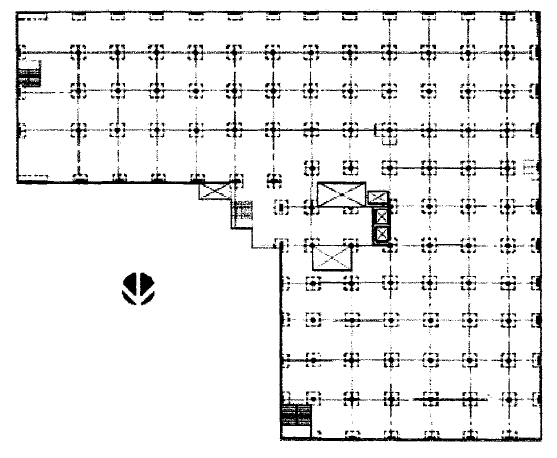 Typical floor plan of pre-retrofit structure. (Amin et al., 2002)