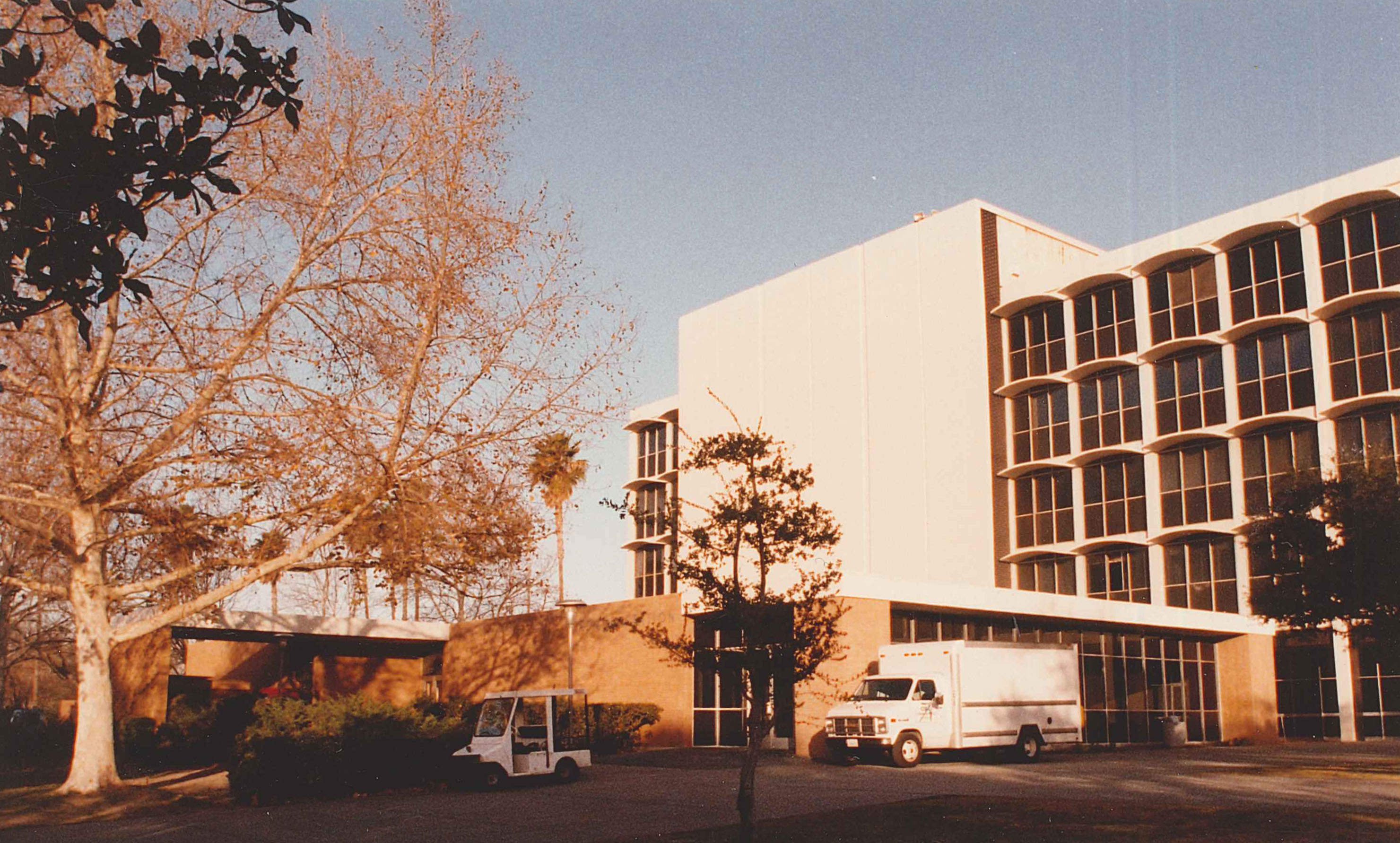 View of the (former) Administration Building on the campus of California State University in Northridge.