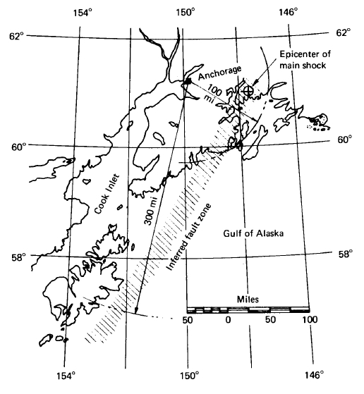 Probable direction of faulting. (Benuska and Clough, 1966)