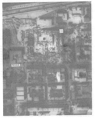 Aerial view of building complex after (left)  earthquake (Bertero & Shah, 1983)