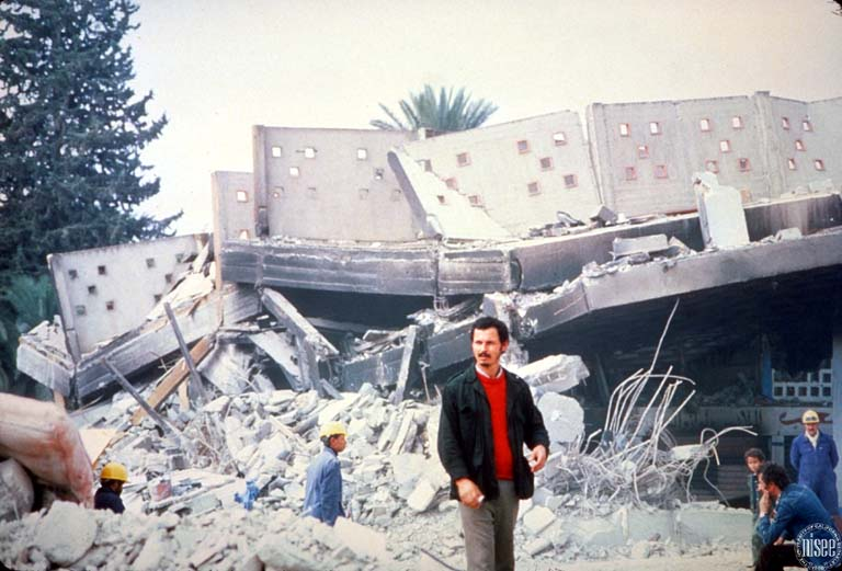 Collapse and parapets of the building  (Bertero, 1980)