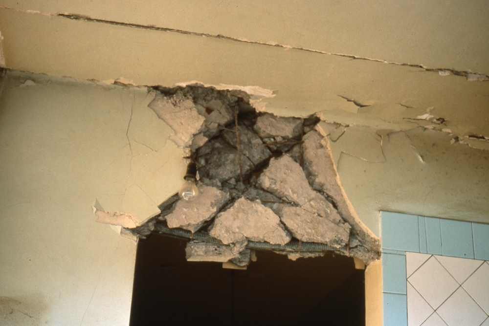 Concrete Buildings Damaged In Earthquakes