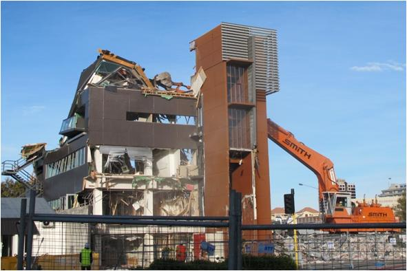 Demolition of the building (Berkowitz, 2011)
