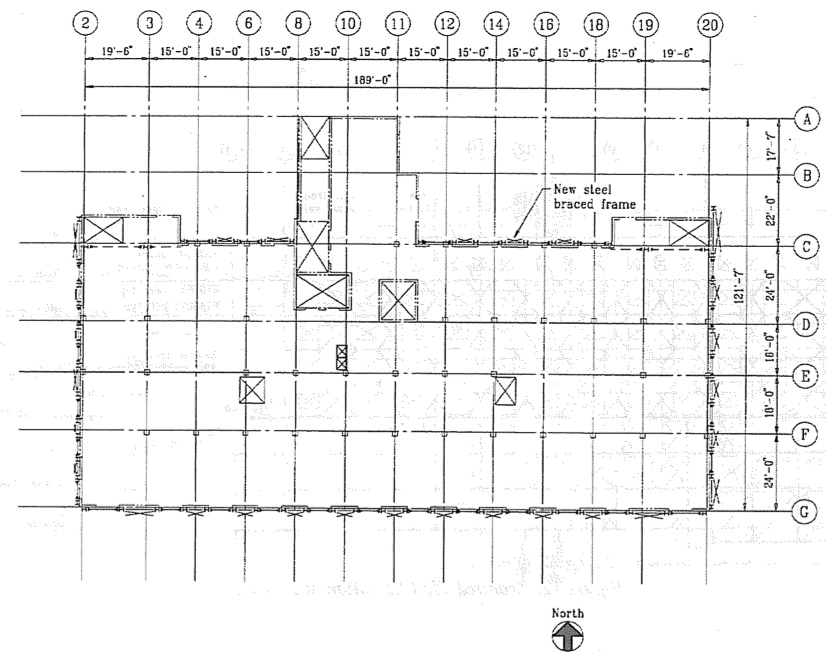 Typical floor plan of repaired structure. (SSC, 1994)